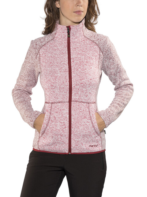Meru Täby Fleece Jacket Women cherry/bordeaux